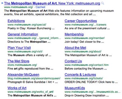 nieuwe google sitelinks weergave