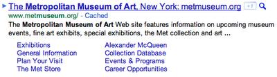 oude google sitelinks weergave