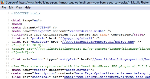 meta-tags-optimalisatie