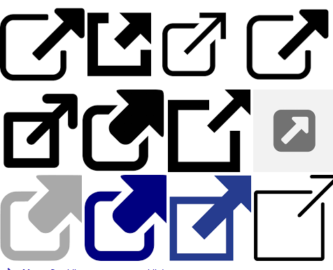 external link icons